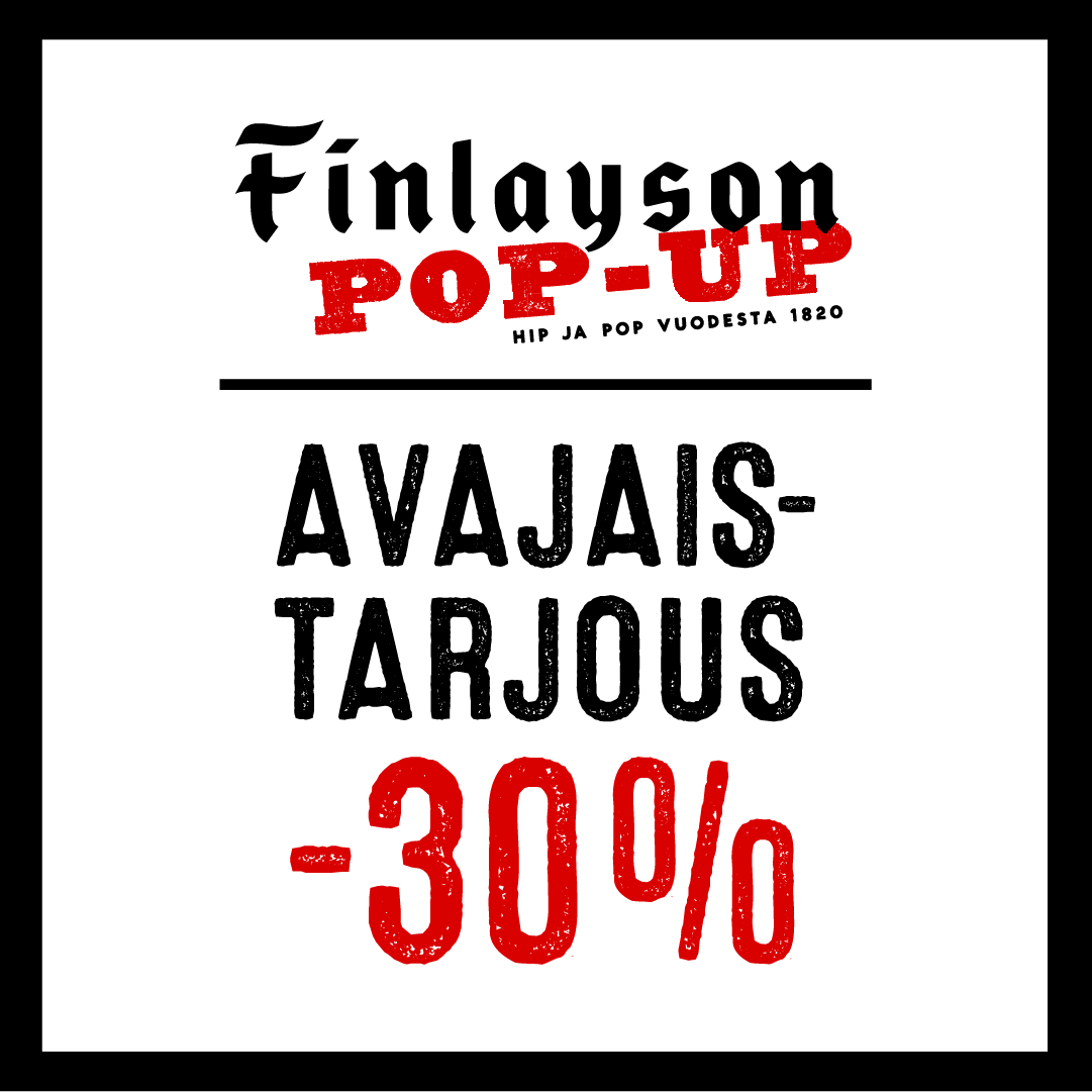 Avajaistarjous - Finlayson pop-up